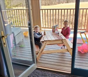 enjoying the porch at home
