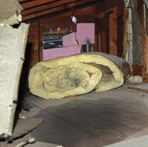 hail damage leads to attic leak