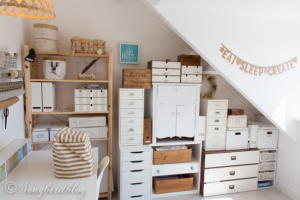 Refinished craft room
