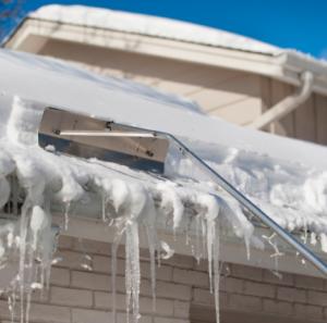 rake snow to prevent ice dams