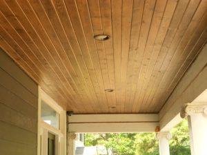 Wood styled vinyl soffits