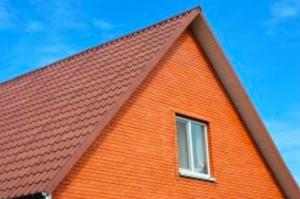 Orange house with roof