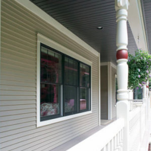 Grey soffit and fascia