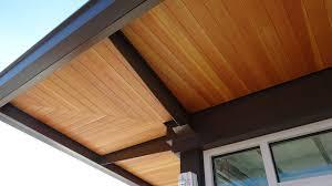 Wood soffit