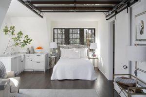 Spare bedroom in detached garage