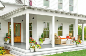 Traditional house with wraparound porch