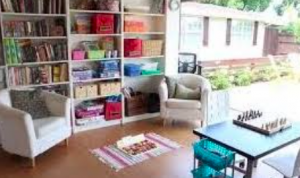 Reading nook shed conversion