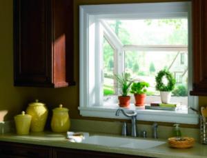 Inside view of garden window insert