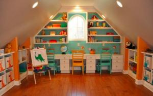 Attic toy room
