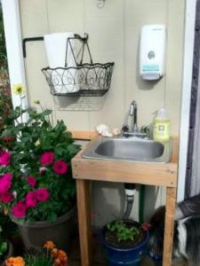 Outdoor utility sink