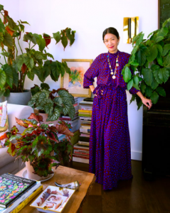 Kate Berry with plants