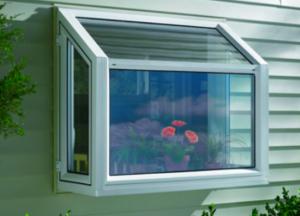 Exterior garden window insert