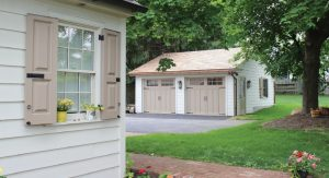 historic home and detached garage