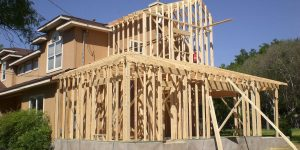 Framing of home addition