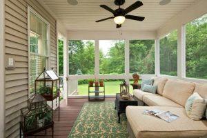 Porch turned sunroom