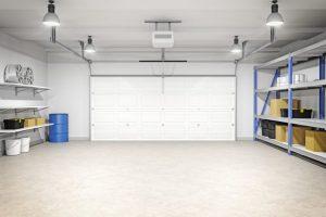 Overhead garage lighting