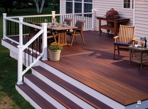 Composite wood styled deck