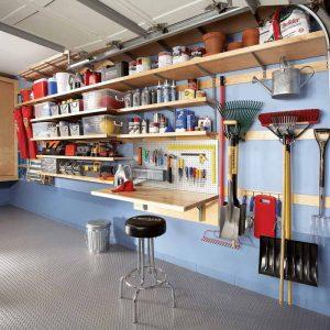 Organized garage for homesteading