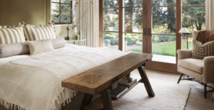 Bedroom with french doors