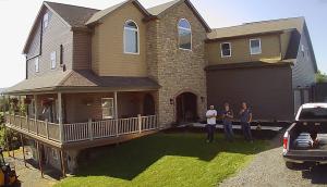 Contractors outside home