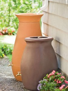 Teracotta rain barrels