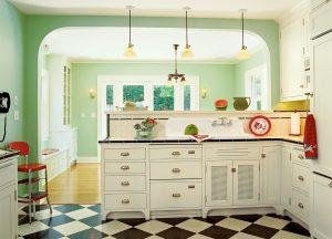 1920's styled kitchen