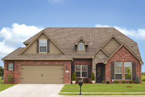 Home with asphalt roof