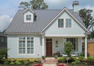 Metal roof on residential