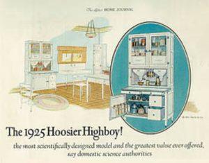 1920's kitchen hoosier