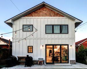 Mixed facade home