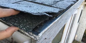 Decaying layers of shingles