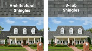 Architectural vs 3-tab shingles